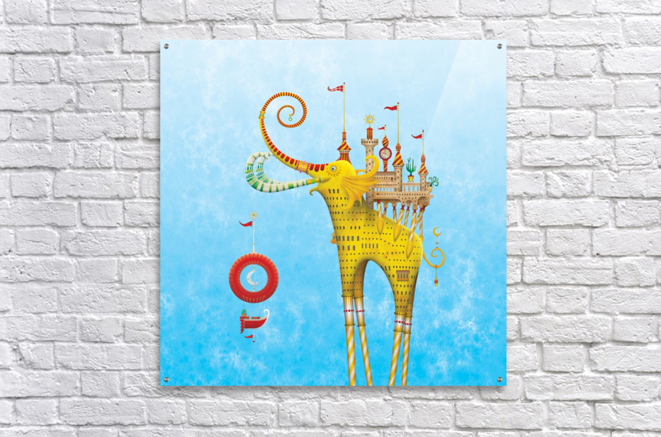 Castellini Elephantini Dorado  Acrylic Print