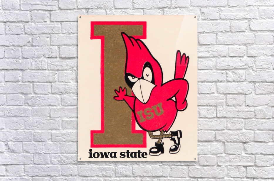 Vintage Iowa State University Cyclone Poster (1)  Acrylic Print