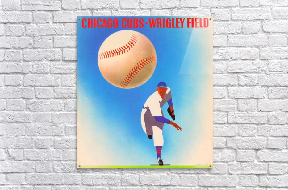 Retro Remix_Chicago Cubs Wrigley Field Art Poster_Vintage Cubs Artwork_Vintage Baseball Poster  Acrylic Print