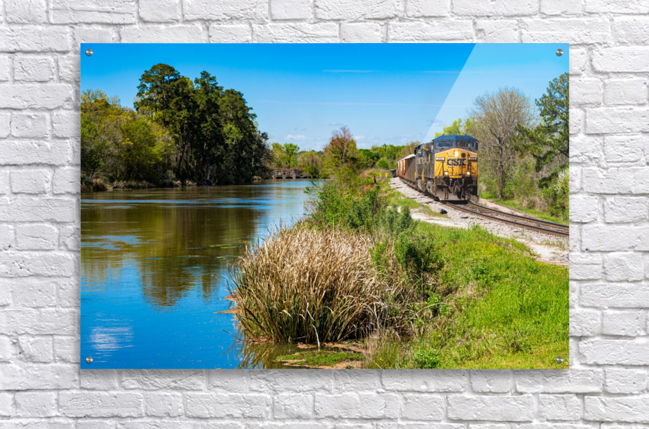 CSX Train along the Augusta Canal GA 02909  Acrylic Print