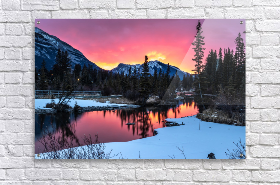 Sunrise At Policemans Creek Alberta  Acrylic Print