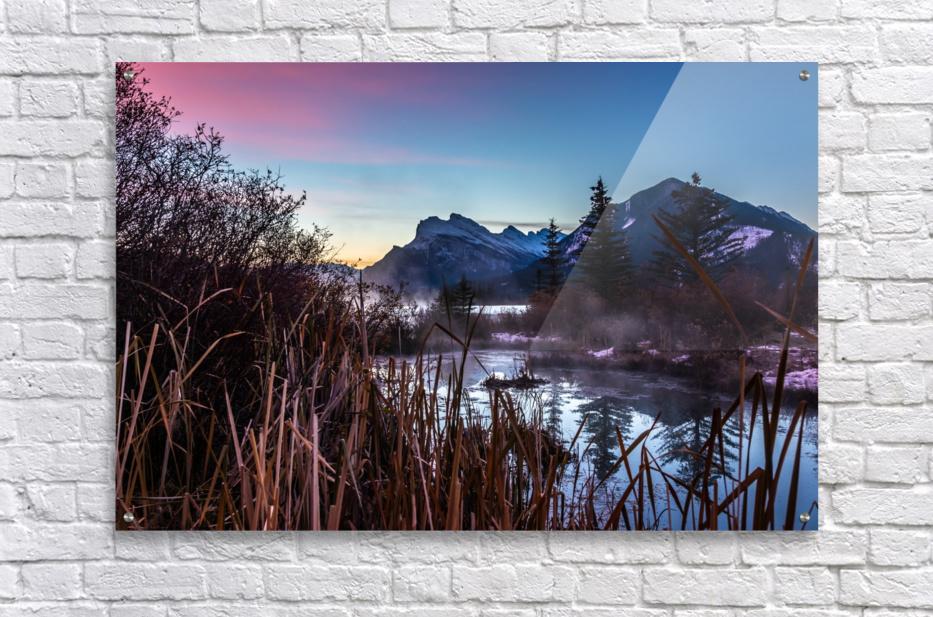 Vermilion Lakes Mist  Acrylic Print