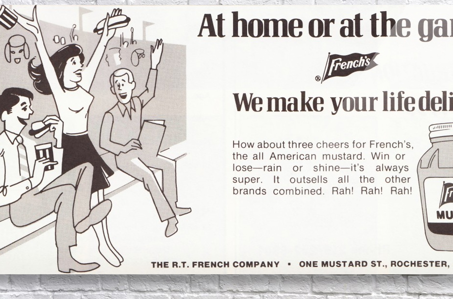 vintage frenchs mustard ad retro food advertisements poster print metal sign wood art  Acrylic Print