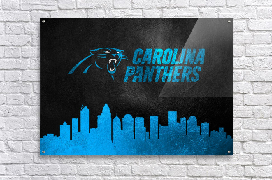 Carolina Panthers Skyline  Acrylic Print