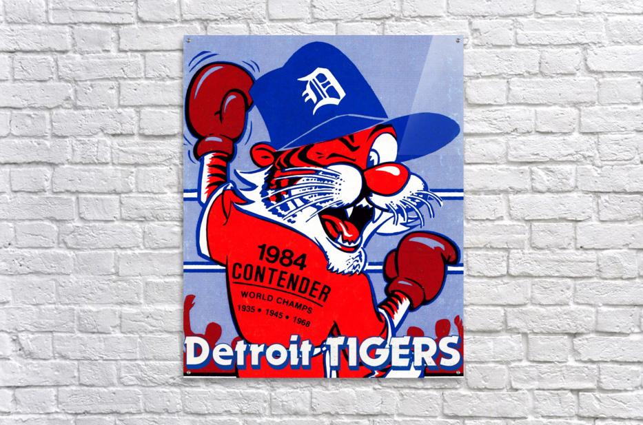 vintage detroit tigers poster retro sports art 1980s posters  Acrylic Print
