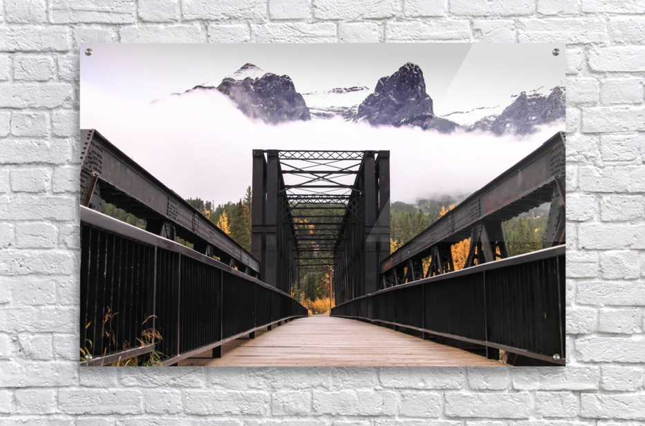 The Engine Bridge Canmore in Fall  Acrylic Print