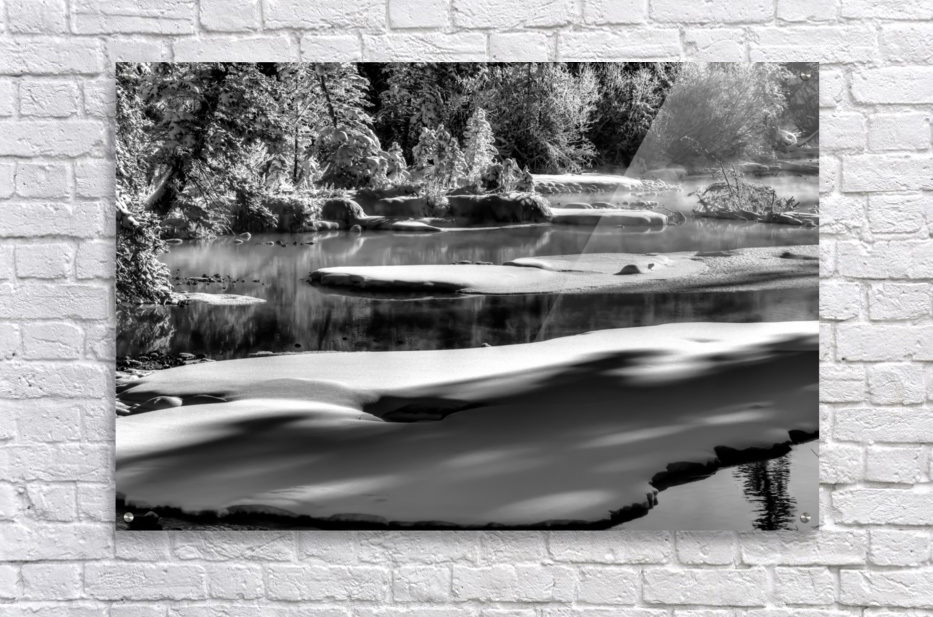Frosty Creek In Alberta   Acrylic Print