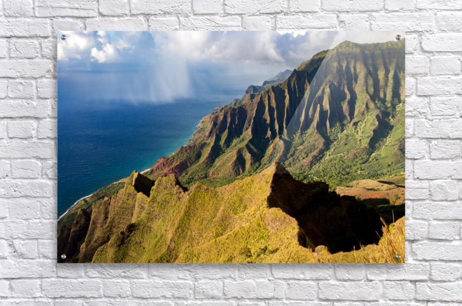 The Cliff Sides of Kauai  Acrylic Print