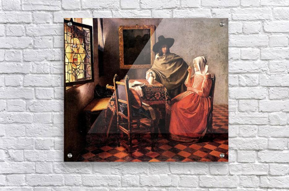 Glass of wine by Vermeer  Acrylic Print