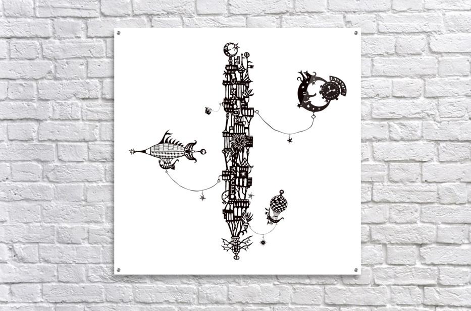 Castellini di Luna  Acrylic Print