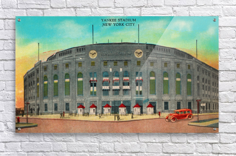 1935 Vintage New York Yankees Stadium Art  Acrylic Print
