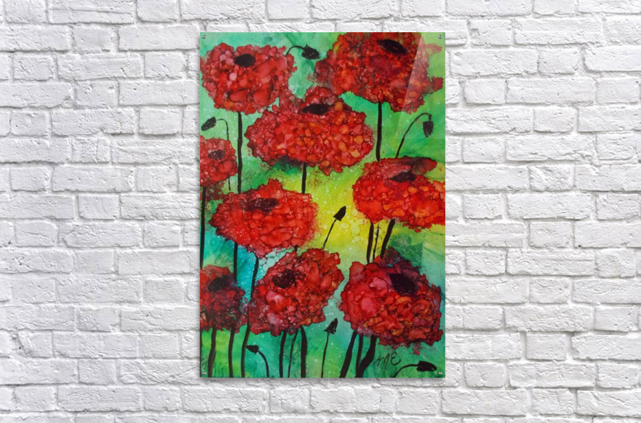 Thinking of Poppies  Acrylic Print
