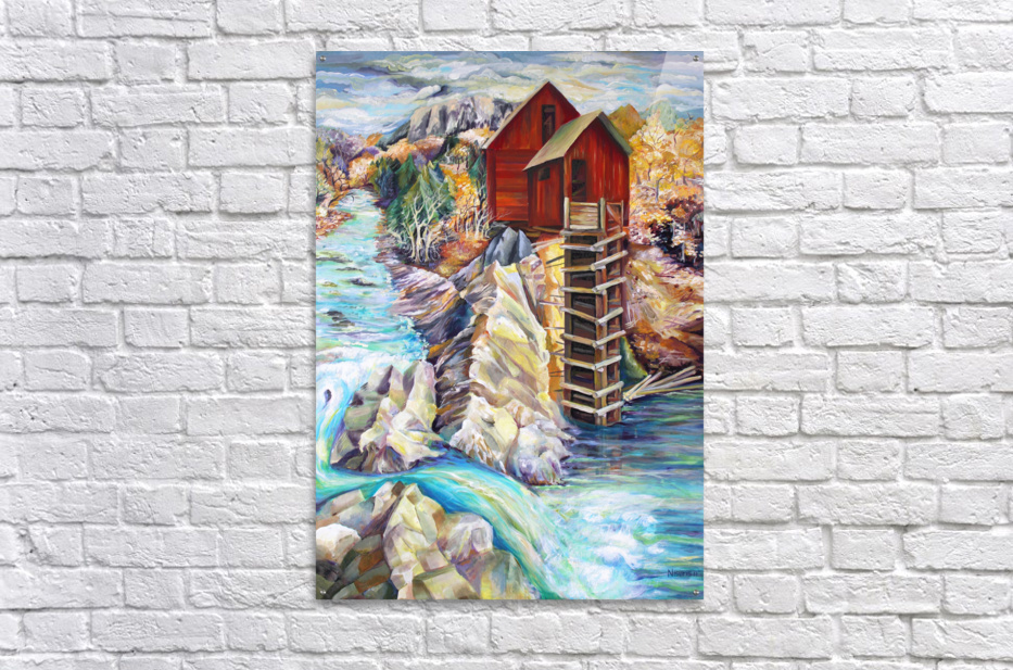 Colorado Rocky Mountains Crystel Mill River   Acrylic Print