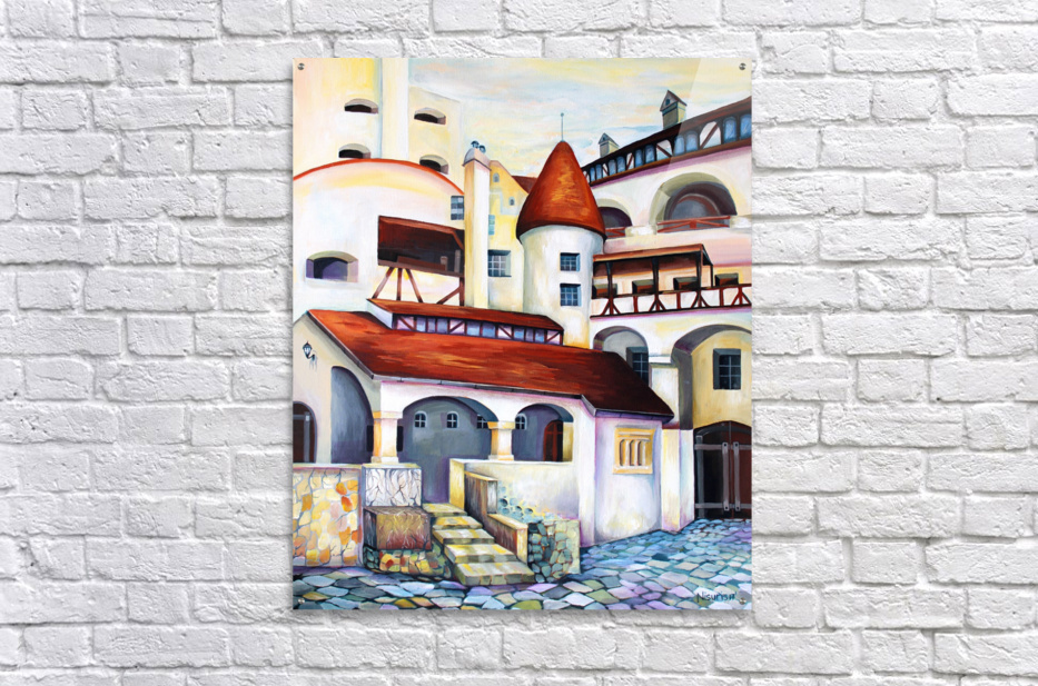 Romania Transylvania Dracula Castle   Acrylic Print
