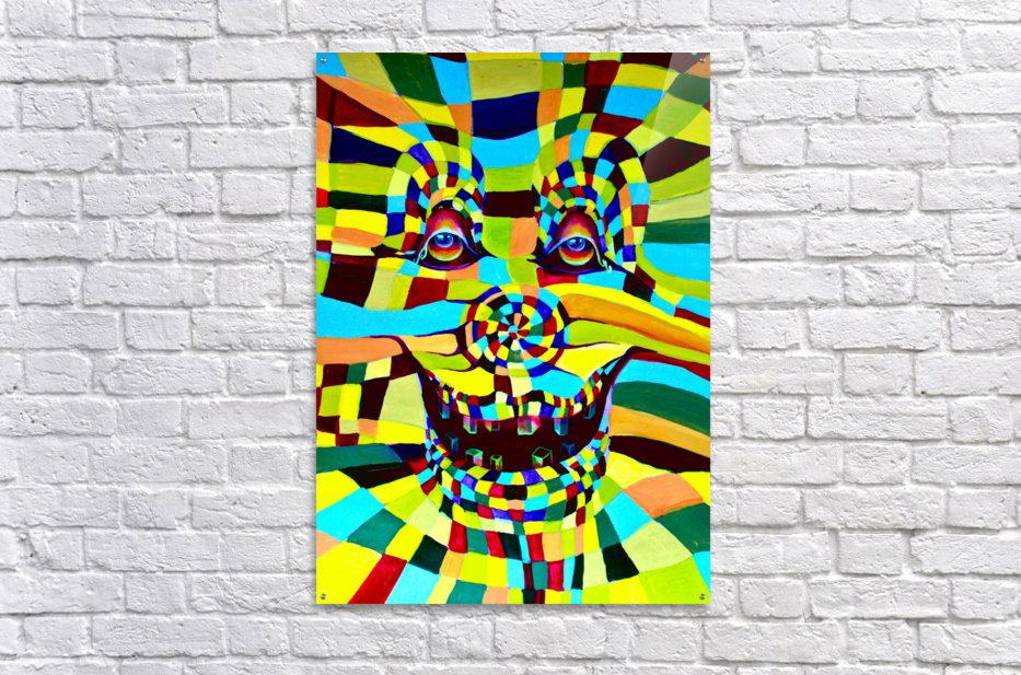 Watecolor Contermporary Pop Surrealism Clown   Acrylic Print