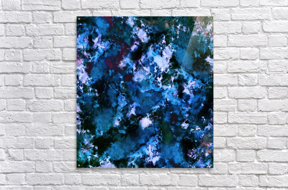Smouldering blue  Impression acrylique