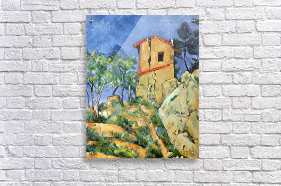 House with Walls by Cezanne  Acrylic Print