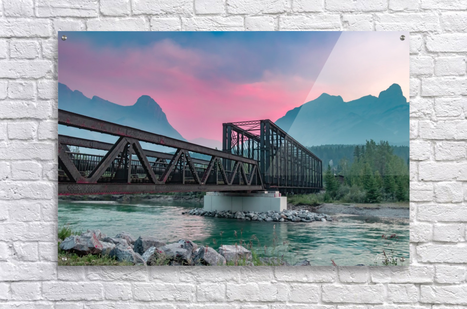 The Engine Bridge Canmore   Acrylic Print