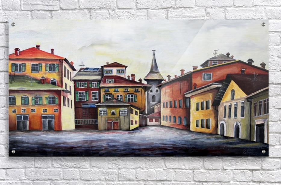 Italy Bohemian Rome Illustration   Acrylic Print