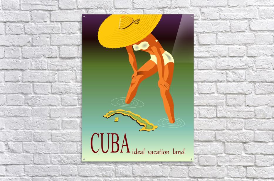 Big Girl over Cuba  Acrylic Print