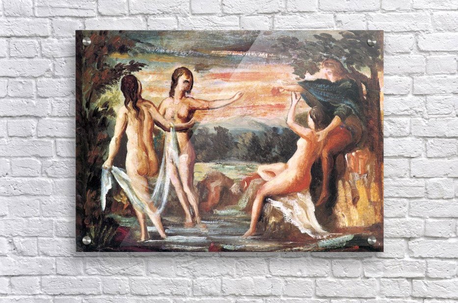 Judgement of Paris by Cezanne  Acrylic Print