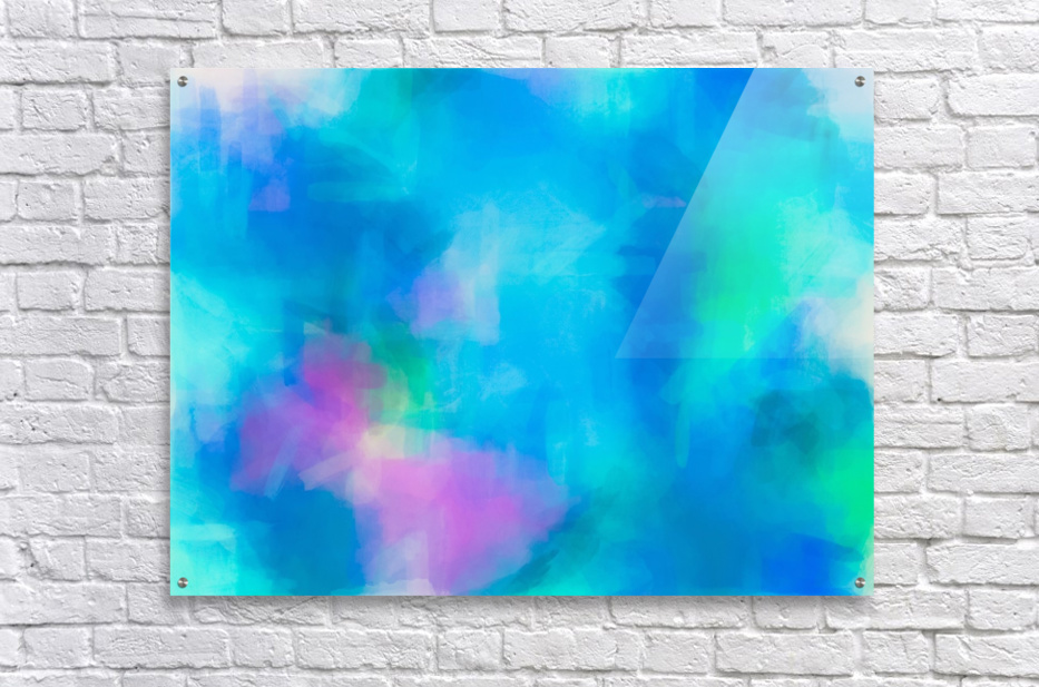 splash painting texture abstract background in blue and pink  Acrylic Print