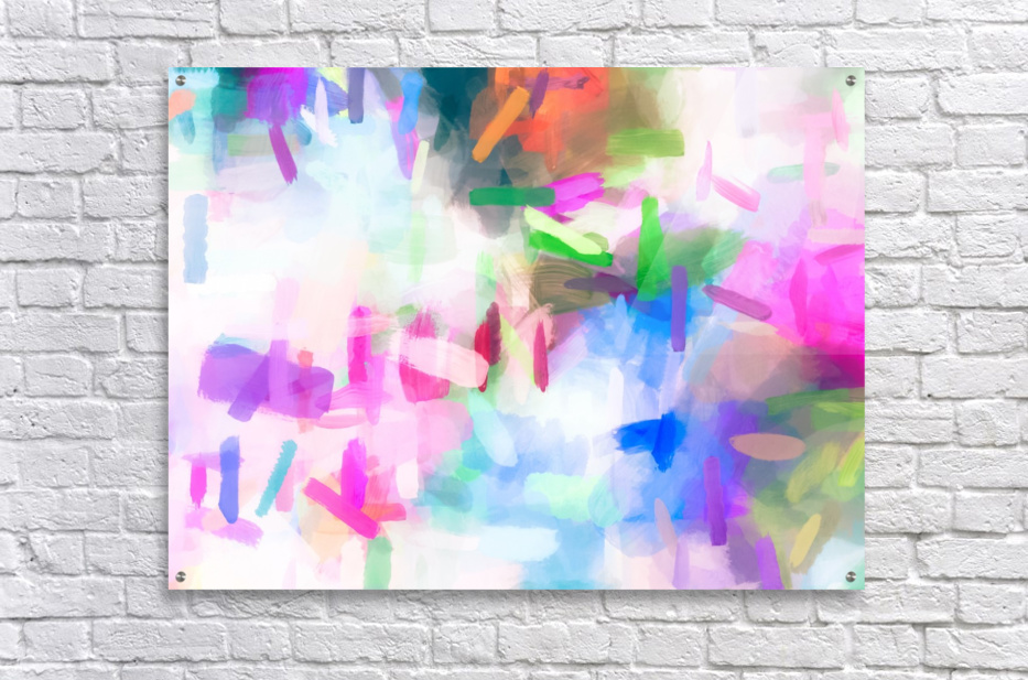 splash painting texture abstract background in pink blue green  Acrylic Print