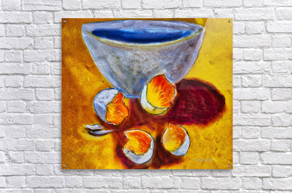Eggs and a bowl  Acrylic Print