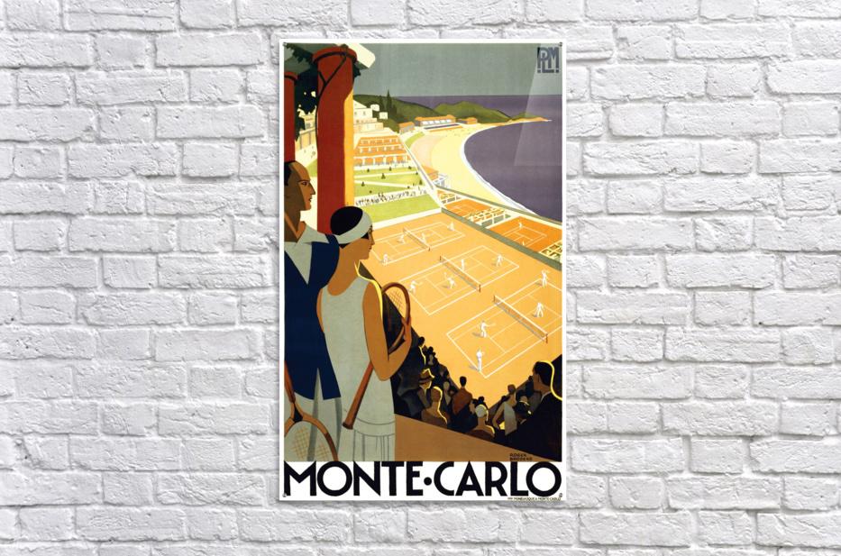 Tennis in Monte Carlo  Acrylic Print