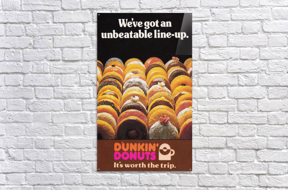 vintage dunkin donuts ad  Acrylic Print