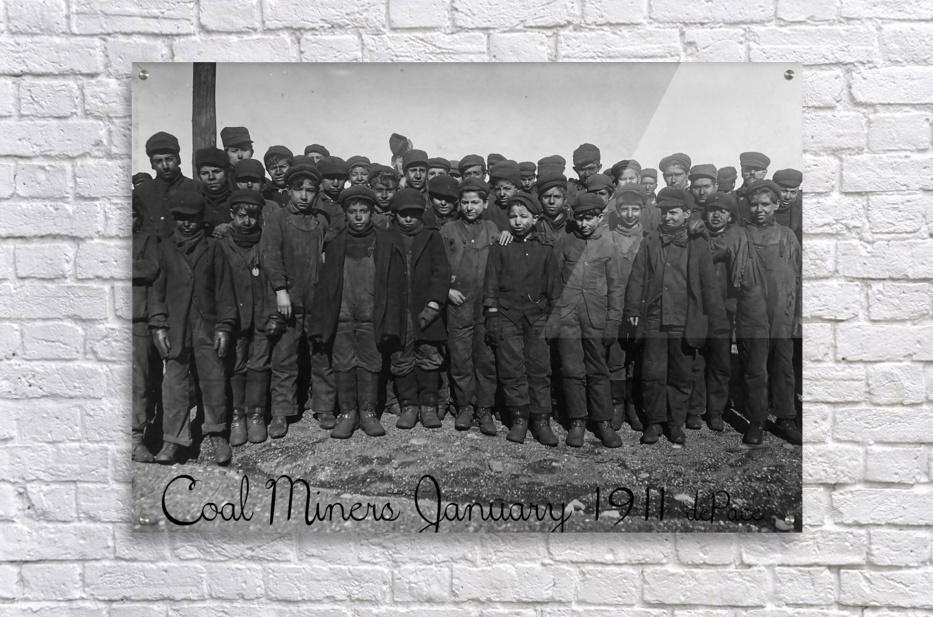 Coal Miners January 1911  Acrylic Print