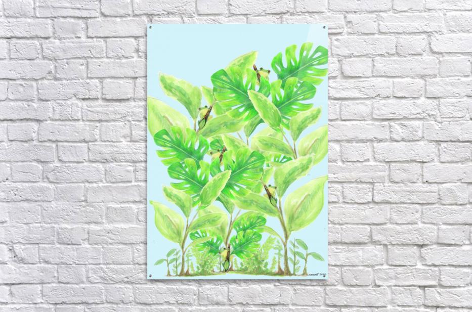 Frog Garden   Acrylic Print