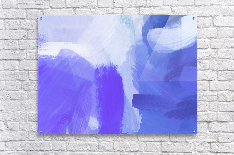 splash painting texture abstract background in blue and purple  Acrylic Print