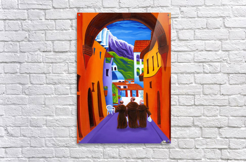 Afternoon In Assisi  Acrylic Print