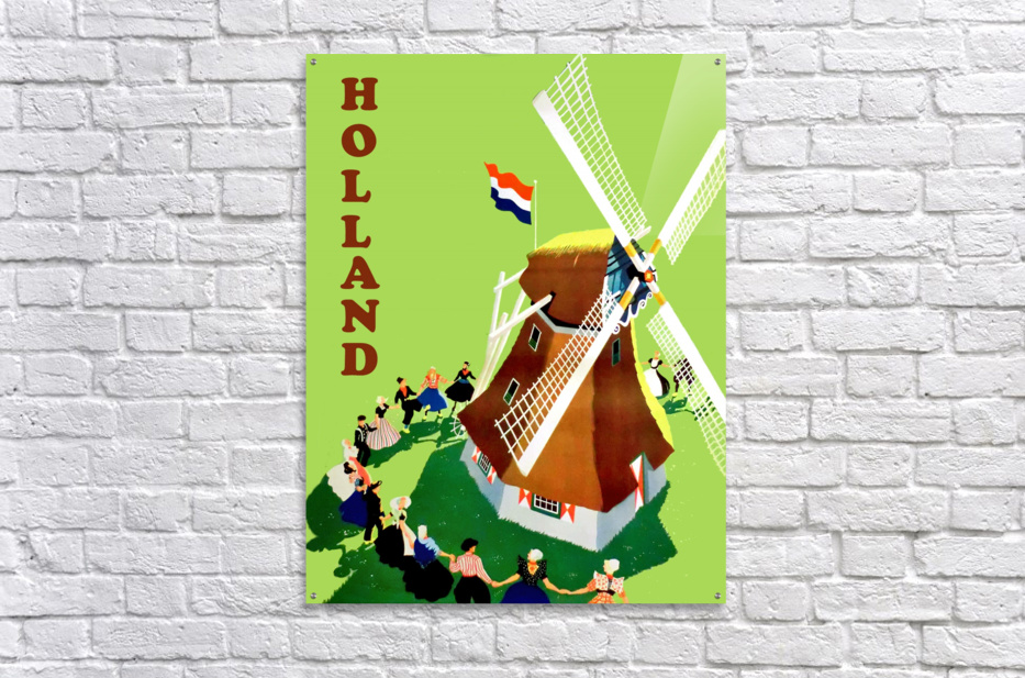 Holland Windmill  Acrylic Print