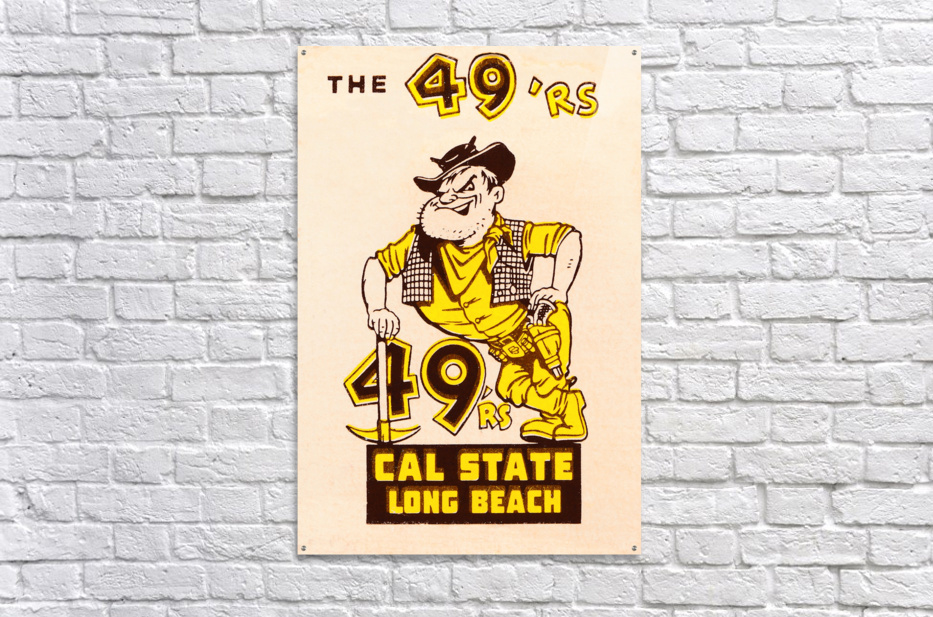 1965 cal state long beach 49ers art   Acrylic Print