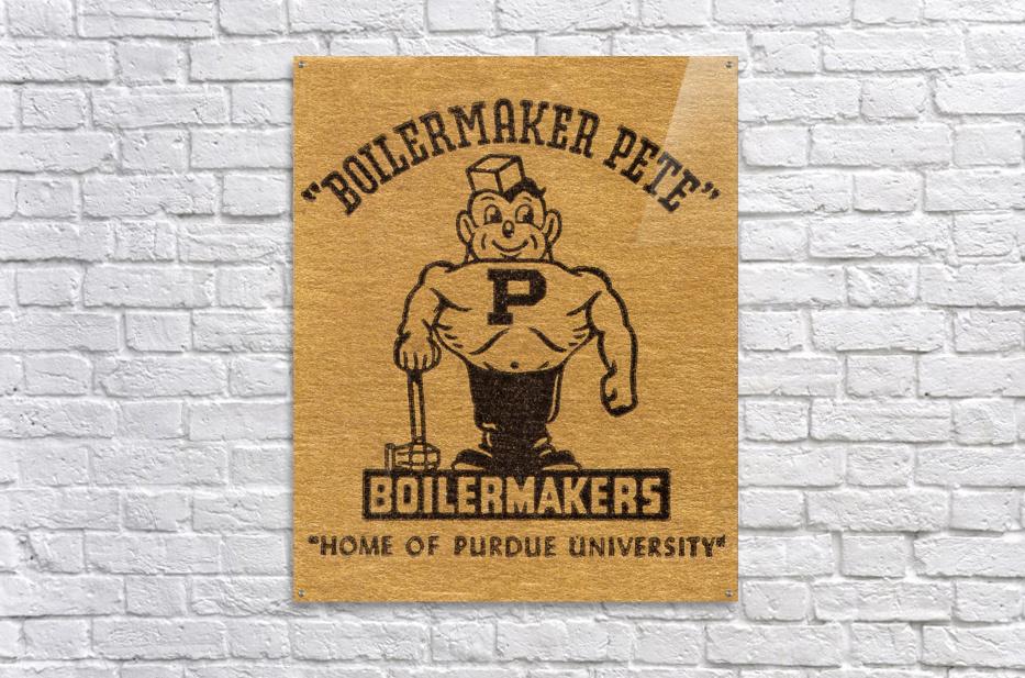 1950s Purdue University Boilermaker Pete Art  Acrylic Print