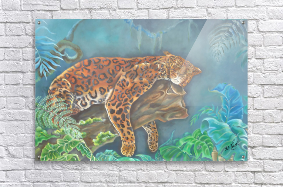 Gorgeous leopard resting in the jungle during the day  Acrylic Print