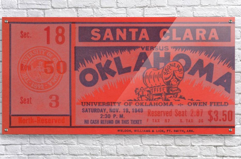 1949 oklahoma sooners bud wilkinson undefeated sooner team  Acrylic Print