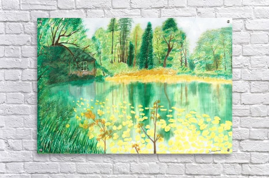Wallington Hall pond  Acrylic Print