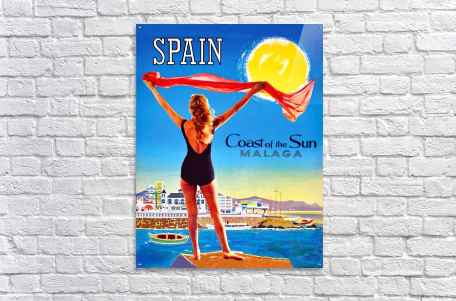 Girl on Malaga Beach  Acrylic Print