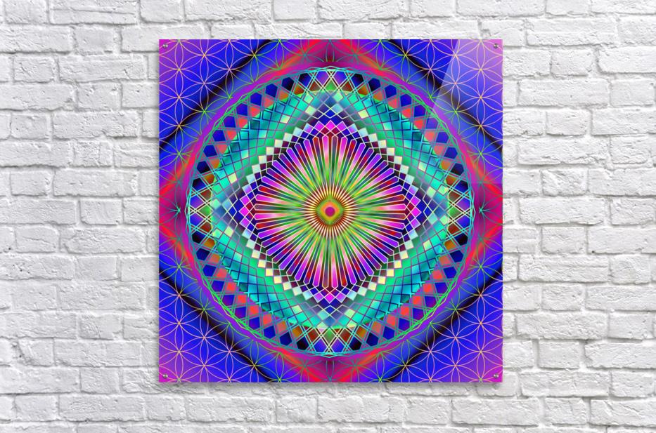Vintage Sun Mandala  Acrylic Print