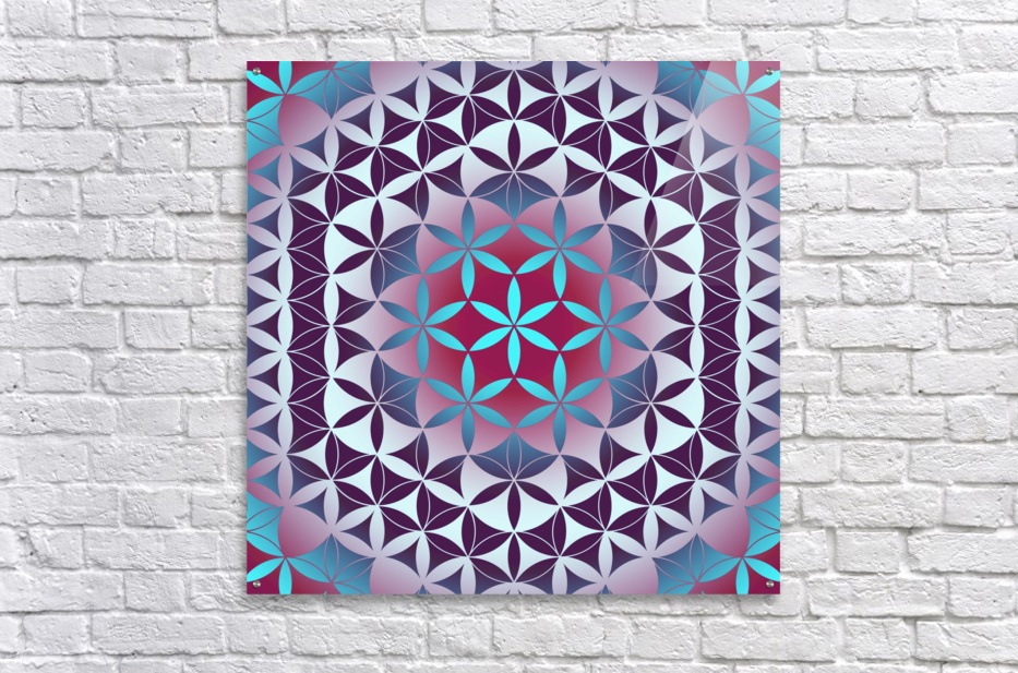 Flower of Life Hexagon Pattern  Acrylic Print