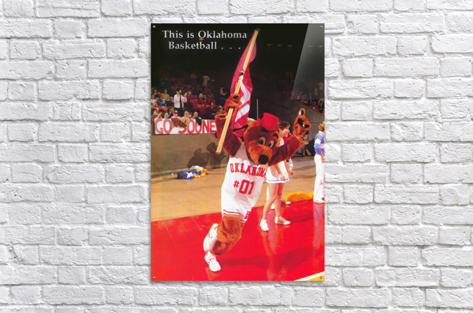 billy tubbs era top daug oklahoma sooners basketball poster prints on wood  Acrylic Print