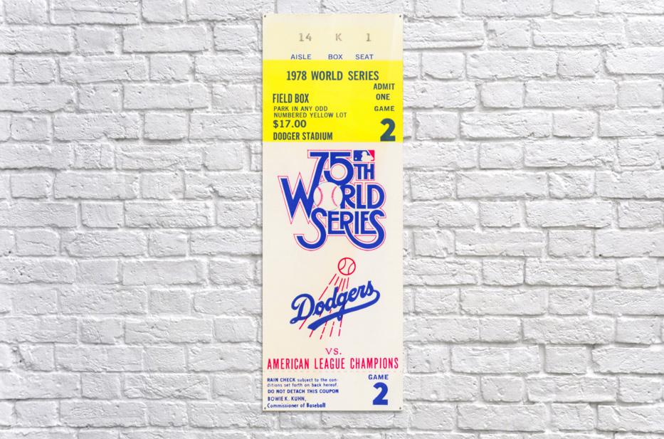 1978 world series la dodgers dodger stadium field box  Acrylic Print