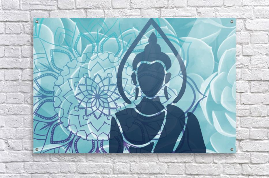 Buddha Mandala blue turqouise  Acrylic Print
