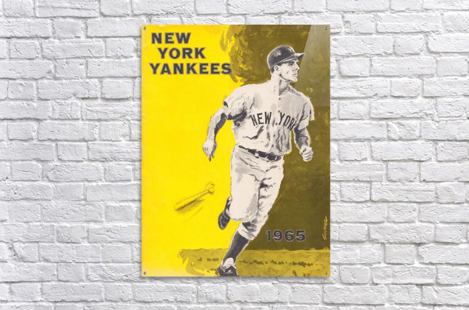 1965 new york yankees poster  Acrylic Print