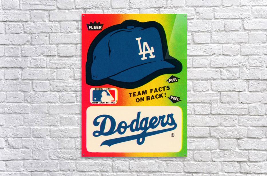 1983 fleer baseball stickers la dodgers ballcap art  Acrylic Print