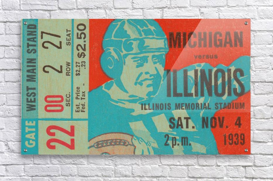1939 Michigan vs. Illinois  Acrylic Print