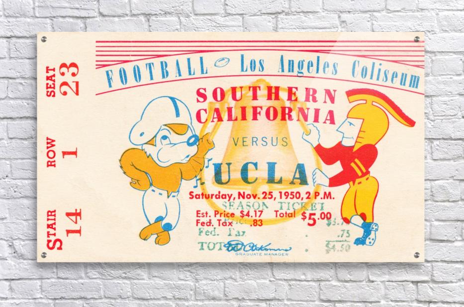 1950 usc ucla los angeles la coliseum college football sports art  Acrylic Print